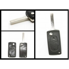 Peugeot 1007 4 Button Remote Key Fob Case