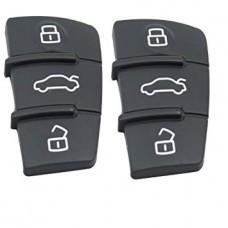 Audi A3 A4 A6 A8 TT Q7 3 button FOB remote key rubber button pad