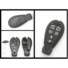 Chrysler Jeep Dodge Replacement 6 Button Fob Remote Key case/shell + blank blade
