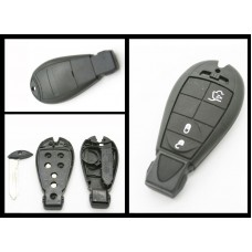 Chrysler Jeep Replacement 3 Button Fob Remote Key case/shell + blank blade