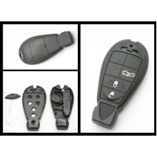 Chrysler Jeep Dodge Replacement 3 Button Fob Remote Key case/shell + blank blade