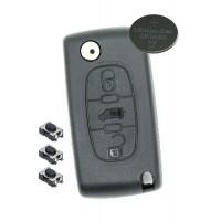 Fits Citroen Berlingo or DISPATCH 3 Button KEY FOB REMOTE CASE Repair Kit