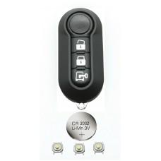 Fits Citroen Jumper Relay Nemo Van 3 Button Remote Key Fob refurbish FIX kit
