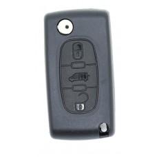Citroen Berlingo or DISPATCH 3 Button KEY FOB REMOTE CASE VA2 Blade