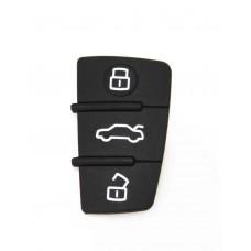 2x Audi Remote Key Fob Rubber Pad 3 Button A3 A4 A6 TT Q7