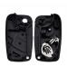 For Fiat Ducato Talento Fiorino Doblo Van 3 Button Remote Key Fob Case Shell