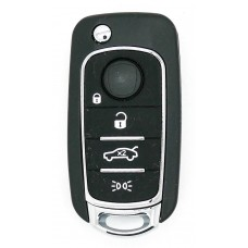 Fiat 500, 500X Tipo 4 Button Fob Remote Key case shell with new key blade