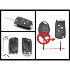 Ford Focus Fiesta Mondeo C-Max S-Max Galaxy 3 Button Conversion Kit to Flip Kit