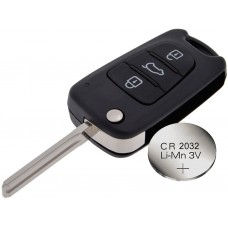 Hyundai i20 i30 3 Button Key Fob Remote Case Shell + battery CR2032