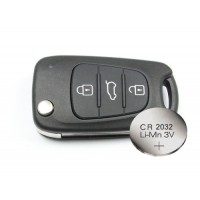 Replacement KIA SOUL 3 Button Remote key FOB shell case + battery CR2032