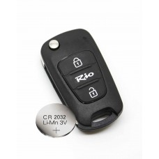 Kia rio 2/3 Button KEY FOB REMOTE CASE SHELL + new battery CR2032