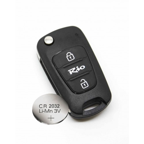 battery CR2032 Fits Replacement KIA SOUL 3 Button Remote key FOB shell case