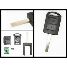 Vauxhall Opel Holden Corsa Combo Meriva 2 Button Remote Key & transponder chip, HU100 blade