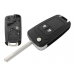 Vauxhall Opel Astra Insignia 2 Button FOB Remote Key CASE Uncut Blade