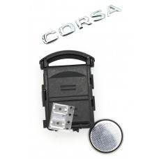 Opel Vauxhall Holden Corsa 2 BUTTON REMOTE KEY repair kit (+2 micro switch and battery CR2032)