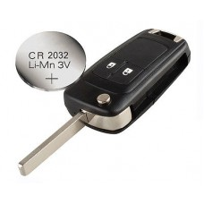 Vauxhall OPEL Astra Corsa Insignia Zafira 2 buttons REMOTE KEY CASE+ battery CR2032