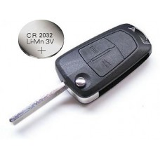 Vauxhall Opel Corsa D Astra Vectra Zafira 2 Button Remote Key + battery