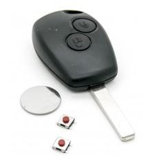 Renault Clio III Master Kangoo II Modus 2 Button Remote Key Repair Refurbish Kit