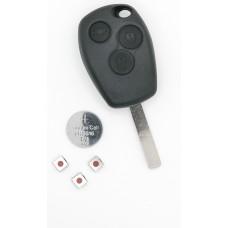 Renault Clio III Master Kangoo II Modus 3 Button Remote Key Repair Refurbish Kit