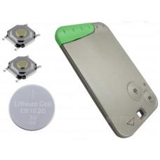 Renault Laguna 2 Button Remote key card Repair Refurbishment Kit