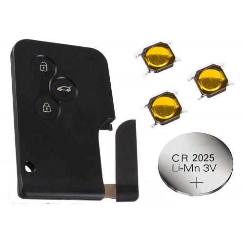 Renault Scenic Megane 3 Button Remote Key Card Repair