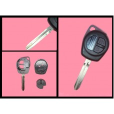 Suzuki 2 button remote key fob shell case, blade and rubber pad, TOY43