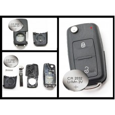 VW Transporter T5 Polo GOLF Polo 2 Button Remote Key FOB case + battery