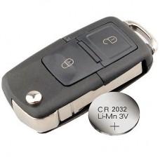 VW Volkswagen Passat Polo Golf Jetta Bora SEAT Ibiza Leon SKODA Octavia Fabia 2 Buttons Remote Key FOB Case +battery CR2032