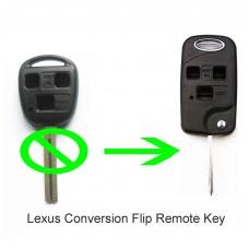 Lexus IS200 GS300 LS400 RX300 3 Button CONVERSION Flip Remote Key Fob Case