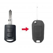 Vauxhall Opel Corsa Agila Meriva Combo 2 Button Remote Flip Key Fob Case